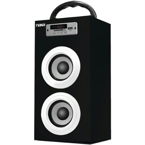 Naxa Electronics Naxa Nas-3040 Bluetooth Portable Speaker With Fm Radio And Usb And Sd Inputs (Black)