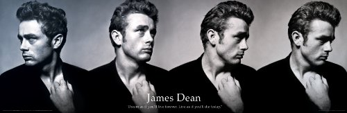 James Dean Dream As If You'll Live Classic Hollywood Actor Celebrity Quote Poster Print 12x36 (James Dean Wall Decor compare prices)