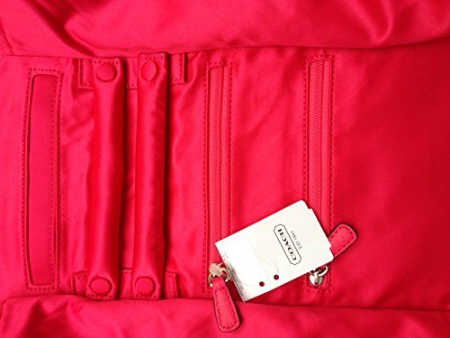 Coach   Coach Occasion Luxury Satin Jewelry Roll Travel Case Pomegranate 66561