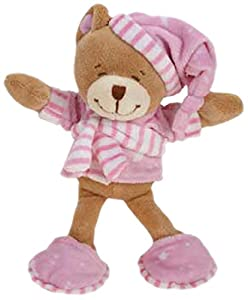 Zanies Sleepy Teddy Dog Toy, Pink