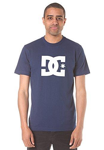 DC-Shoes-Star-Camiseta-de-manga-corta-de-pantalla-de-hombre-azul-2-X-L
