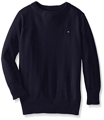 tommy-hilfiger-big-boys-long-sleeve-alan-crew-neck-sweater-swim-navy-small