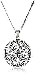 Celtic Knot Pendant Necklace, 18""