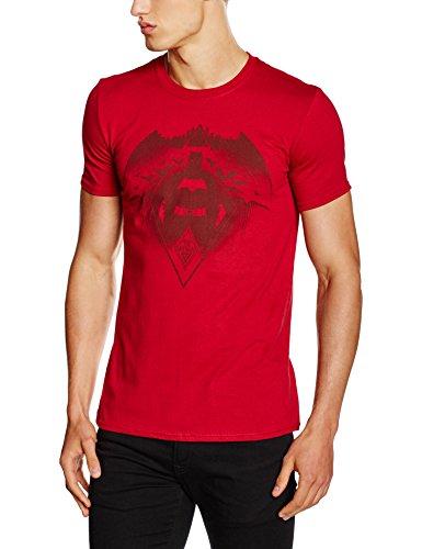CHARACTER Batman Vs Superman-Fear the Batman, T-Shirt Uomo, Rosso, XX-Large
