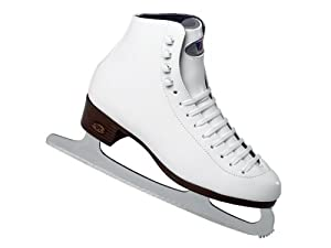 Riedell 115 RS White Ladies Figure Ice Skates with GR4 Blades Recreational Series...