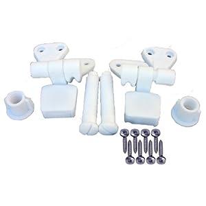 The Amazon Store 0324 Lasco 14 1039 White Plastic Toilet