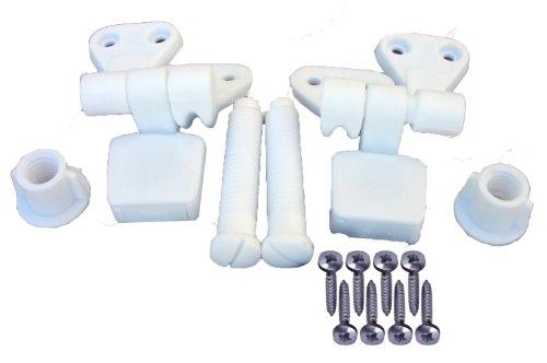 Blog1 Super Lasco 14 1039 White Plastic Toilet Seat Hinge