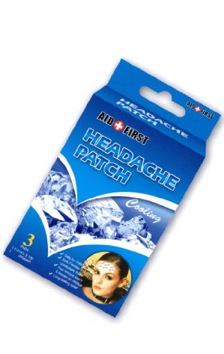 6 Cooling Headache Migraine Patch Pad Pain Relief