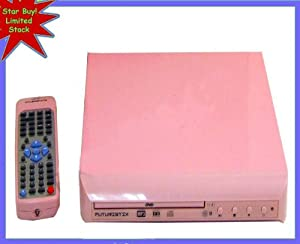 Funky Pink DVD Player with remote DVD MP3 CD-R CD-RW WMA CD DHCD (Region 2)