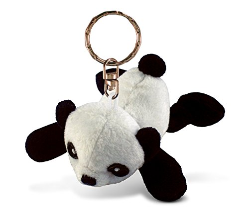 Puzzled Panda Plush Keychain