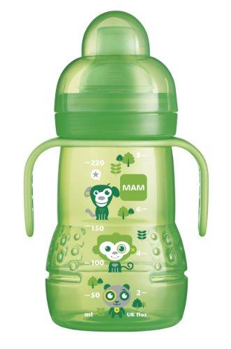 MAM Babyartikel, Biberon/tazza antigoccia, verde, Verde (grün)