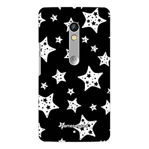 HomeSoGood Black And White Shining Stars 3D Mobile Case For Moto X Play (Back Cover)