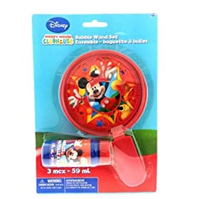 Mickey Mouse Party Favors - 1 Large Bubble and Wand Set