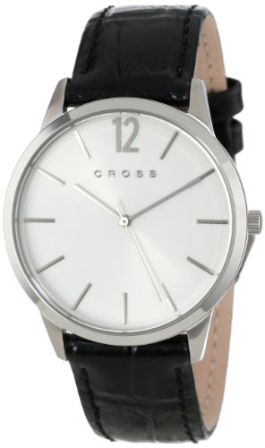 Cross Men's CR8015-02 Franklin Classic Stainless Steel Watch with Black Leather Band