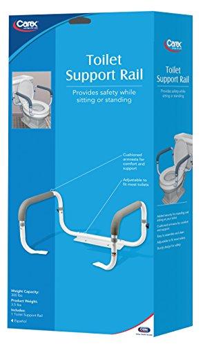 Carex Health Brands Toilet Support Rail Hardware Plumbing Plumbing Fixtures Toilets Bidets Toilets