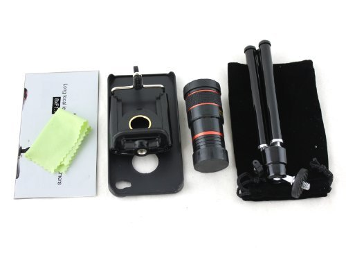 Apexel Universal 8X Zoom Telescope Lens Kit With Mini Tripod/Case For Apple Iphone5/5S
