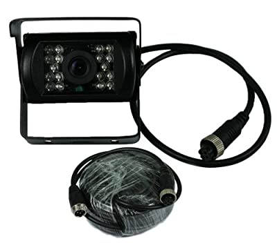 By lovelive-5 stars Selling CCD Rear View Night Vision Backup Camera for Bus RV Truck Trailer with aviation connector Plug