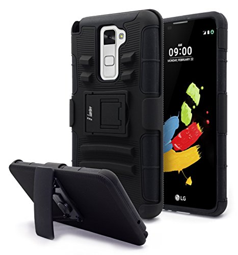 sports shoes 7b853 a6ab9 LG Stylo 2 Case, NageBee - High Impact Resistant Black Dual - Import It All