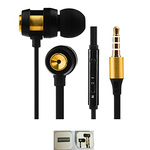 Earbuds with Microphone,Tangle Free Flat Cord in Ear Headphones with Mic Wired Earphones for iPhone, iPad, iPod, Samsung Galaxy, Tablets, Computers, Android Smartphones (BLACK)