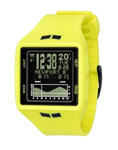 Vestal Unisex BRG016 Brig Tide & Train Fluorescent Yellow and Black Watch