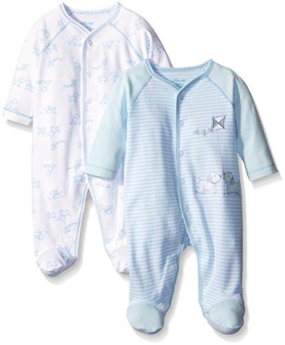 Little Me Baby Newborn Baby Boys 2 Pack Footie e Piece