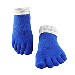 Imported 1 Pairs Men's 5 Toe Socks Sports Five Finger Socks Breathable - Blue