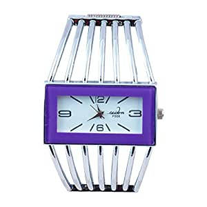 SUNTRANCE Sliver Metal Strap Analog Watch For Girls