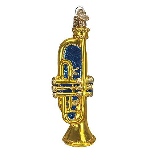 Old World Glass Blown Trumpet Ornament