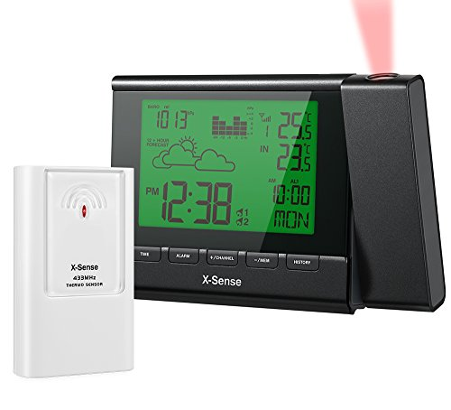 x-sense-ag-22p-wireless-indoor-outdoor-weather-station-with-projection-clock-and-color-changing-disp