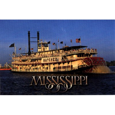 Mississippi Postcard 12314 River Boat - Case Pack 750 SKU-PAS382025