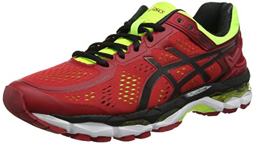 asics-gel-kayano-22-scarpe-running-uomo-rosso-red-pepper-black-flash-yellow-44-eu