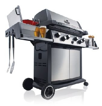 Broil King 988744 Sovereign XLS 90 Liquid Propane Gas Grill with Side Burner and Rear Rotisserie Burner