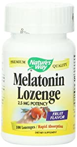 Nature's Way Melatonin Lozenge, 2.5 mg, 100-Count