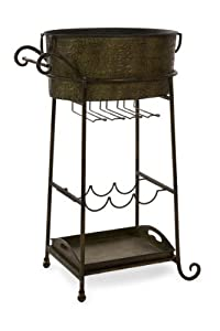 Hanover Party Tub with Wine Glass and Bottle Holder