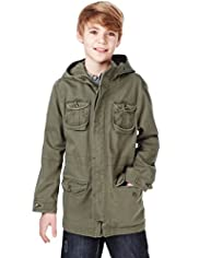 Pure Cotton Hooded Parka with Stormwear&#8482;