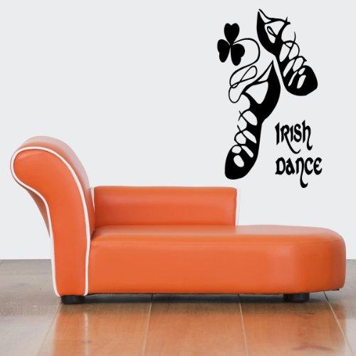 Wall Decor Vinyl Sticker Room Decal Art Irish Dance Shoes Lucky Clover Sign 684 front-925102