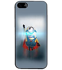 PrintDhaba Flying Minion D-2184 Back Case Cover for APPLE IPHONE 4 (Multi-Coloured)