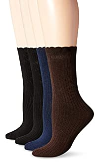 PEDS Womens Assorted Solid Black Blu…