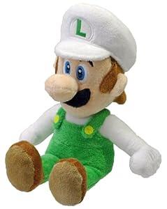 "Nintendo Official Super Mario Fire Luigi Plush, 8"""