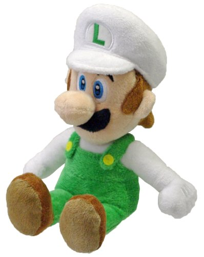 Nintendo Official Super Mario Fire Luigi Plush, 8""