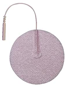 "3B Scientific W63209 Round Comfort-Stim Elite Tan Spunlace Electrodes, 3"" Diameter"