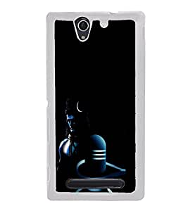 ifasho Lord Siva and Siva Linga animated Back Case Cover for Sony Xperia C3