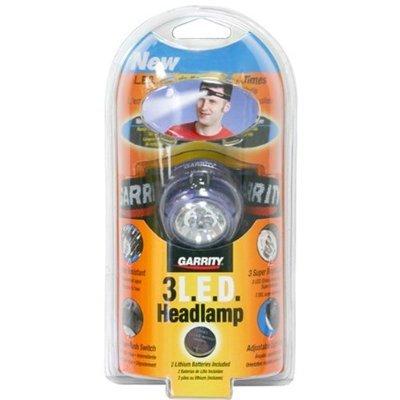 3-Pack Garrity 3 White Led Headlamp (Red Lining)