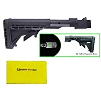 """Phoenix Technology Patended Kick Kicklite Package Fits AK Stamped Receiver Platform Rifle Recoil Reduction Buttstock Stock + Buttpad Butt Pad + Sling Swivel Stud + Ultimate Arms Gear Rifle/Shotgun/Pistol/Gun Care and Reel Silicone Lubricated Cleaning Cloth 12"""" x 14"""""""