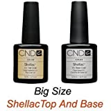 "CND Shellac Top .5oz and Base .42oz ""Set of 2"" Big Size"