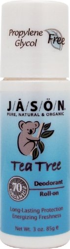 Jason Roll-On Tea Tree Oil Deodorant, 3 Ounce Tubes (Pack Of 3)