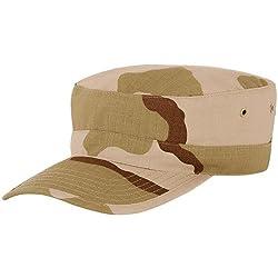Military Patrol Cap-Desert Camo MEDIUM