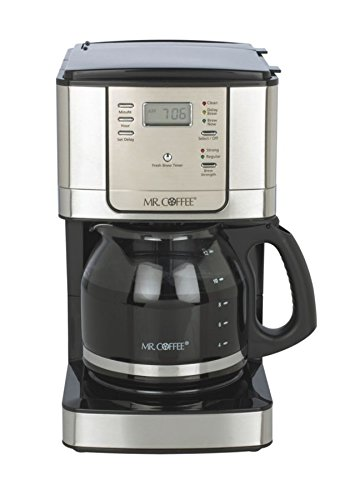 Mr. Coffee 12-Cup Programmable Coffeemaker Jwx31Bp, Black/Brushed Stainless Steel