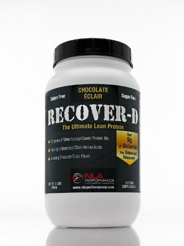 RECOVER-D Protein Post Workout Supplement with 9g of Glutamine and 5g of BCAA - RECOVER-D 2lb. Chocolate