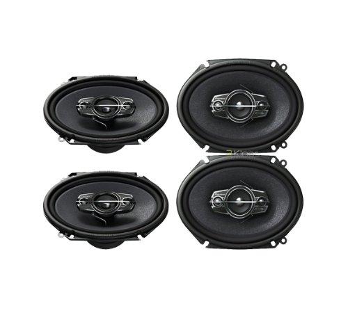 4) New Pioneer Ts-A6885R 5X7/6X8 Car Audio Speakers 4 Way 350 Watts Tsa6885R